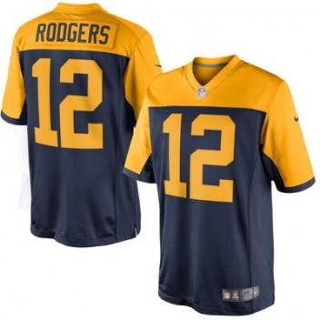 f549380a4 Hombres Verde Bay Packers Aaron Rodgers Nike Marino Azul limitada  alternativo NFL Tienda Camisetas