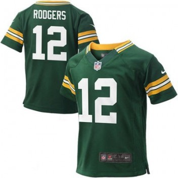 c86416324 Niño Verde Bay Packers Aaron Rodgers Nike Verde Juego NFL Tienda Camisetas