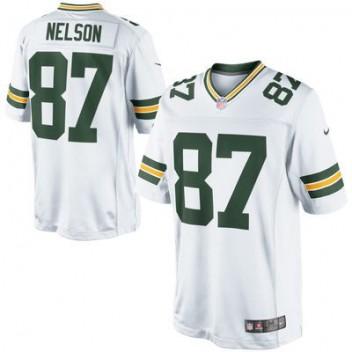 Hombres Verde Bay Packers Jordy Nelson Nike Blanco limitada NFL Tienda Camisetas