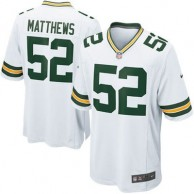 Mens Green Bay Packers Clay Matthews Nike White Game Jersey