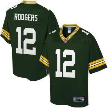 Pro línea Hombres Verde Bay Packers Aaron Rodgers grande   alto Equipo  Color NFL Tienda Camisetas ca159a0904c
