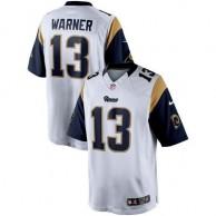Hombres St. Louis Rams. camisetas-los-angeles-rams. Disponible. Hombres St.  Louis Rams Kurt Warner Nike Blanco Jubilado jugador limitada NFL Tienda ... cc858ed60d2c9