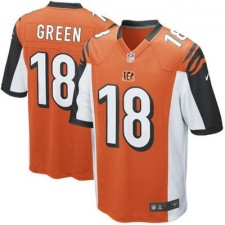 Mens Cincinnati Bengals AJ Green Nike Orange Alternate Game Jersey