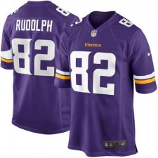 Mens Minnesota Vikings Kyle Rudolph Nike Purple Game Jersey