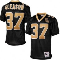 Mens New Orleans Saints Steve Gleason Mitchell & Ness Black Authentic Throwback Jersey