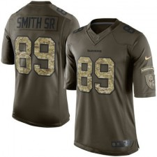Men's Baltimore Ravens Steve Smith Sr Nike Green Salute To Service Limited Jersey