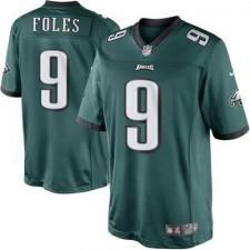 Men's Philadelphia Eagles Nick Foles Nike Midnight Green Team Color Limited Jersey