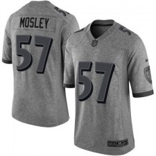 Men's Baltimore Ravens C.J. Mosley Nike Gray Gridiron Gray Limited Jersey