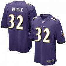 Men's Baltimore Ravens Eric Weddle Nike Purple Game Jersey