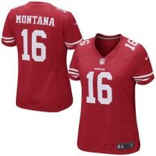 Mujeres San Francisco. camisetas-san-francisco-49ers. Disponible. Mujeres San  Francisco 49ers Joe Montana Nike Scarlet Jubilado Juego NFL Tienda ... b025db3d159e7