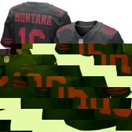 Hombres San Francisco. camisetas-san-francisco-49ers. Disponible. Hombres  San Francisco 49ers Joe Montana Nike Negro Jubilado jugador Elite NFL Tienda  ... e39c939fabbf8