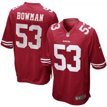 Hombres San Francisco 49ers Navorro Bowman Nike Scarlet Juego NFL Tienda Camisetas