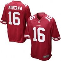 Mens San Francisco 49ers Joe Montana Nike Scarlet Retired Player Game Jersey