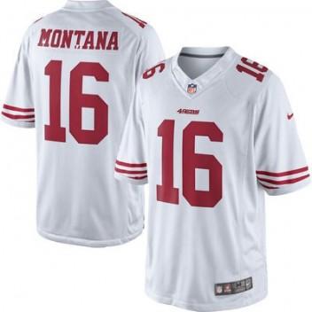 092bea176cde0 Hombres San Francisco 49ers Joe Montana Nike Blanco Jubilado jugador  limitada NFL Tienda Camisetas