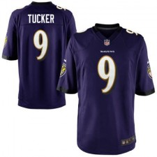Mens Baltimore Ravens Justin Tucker Nike Purple Game Jersey