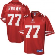 Youth San Francisco 49ers Trent Brown Pro Line Team Color Jersey