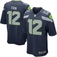 Mens Seattle Seahawks Fan 12 Nike College Navy Alternate Game Jersey