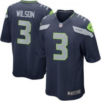 Hombres Seattle Seahawks Russell Wilson Nike College Marino Juego NFL Tienda Camisetas
