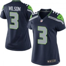 Women's Seattle Seahawks Russell Wilson Nike College Navy Game Jersey