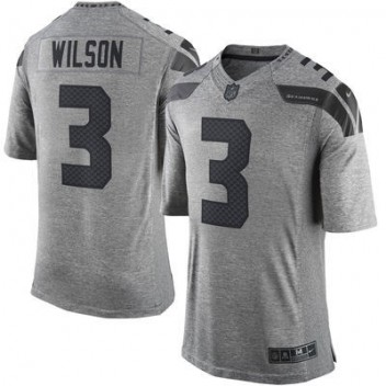 Hombres Seattle Seahawks Russell Wilson Nike gris Gridiron gris limitada NFL Tienda Camisetas