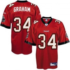 Reebok Earnest Graham Tampa Bay Buccaneers Historic Logo Youth Replica Jersey - Red